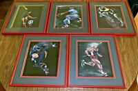 5 Terry Rose ~ Signed ~ Framed ~ Double-Matted ~ Sports Lithograph Art Prints
