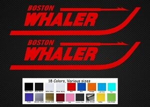 """Boston Whaler Boats Decal Set Stickers 11"""" Fishing Baitcaster Swim Bait Outboard"""