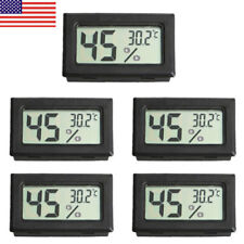 US 5 PCS Digital LCD Indoor Temperature Humidity Meter Thermometer Hygrometer