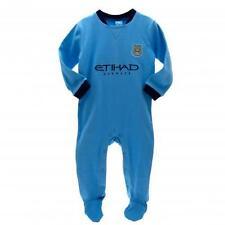 Manchester City Fc Man Football Kit Babygrow Sleepsuit 9/12 mths