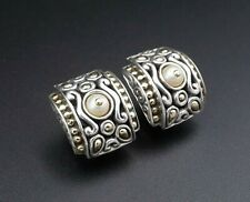 John Hardy Sterling Silver Jaisalmer Pearl Huggie Earrings French Clips ES1817