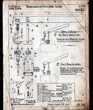 """Concessionnaire AUTOMOBILE CITROEN / DEMONTE SOUPAPE """"NOTE TECHNIQUE N°356"""" 1938"""
