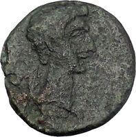 AUGUSTUS 27BC Thessaly Koinon ATHENA Authentic Ancient Roman Coin RARE i47215