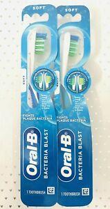 Oral B Bacteria Blast Toothbrush 2 Pack SOFT