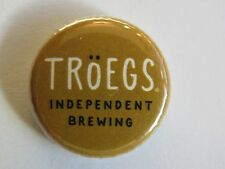 BEER BUTTON Pinback ~ Independent TROEGS Brewing Co ~ Hershey, PENNSYLVANIA