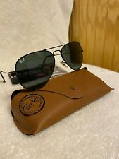 Ray-Ban Aviator Sunglasses RB3025 58mm 002/62 Black Frame with Black Lenses