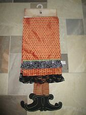"NWT WITCH CRAFTERS Halloween Witch's Feet Table Runner 13"" x 72"" -Beautiful!!"
