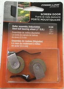 """[2 Packs Of 2] Prime Line Sliding Screen Door Roller Assembly 1"""" OD Wheel # B639"""