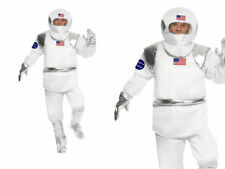 Adult Mens Spaceman Costume Astronaut NASA Space Flight Suit Fancy Dress New