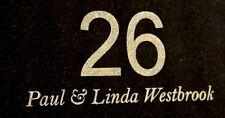 House Sign or house number custom laser engraved black granite no holes