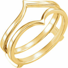 Ring Guard Wrap 14k Yellow Gold Solitaire Enhancer Wedding Vintage Antique
