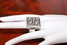 VTG Sterling Silver Studio Artisan Modernist Marked JCM Heavy 26g Ring Sz10 RG3