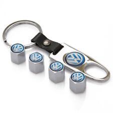 Car Wheel Tire Valve Dust Stems Air Caps Cover Emblem Keychain for VW Golf cc