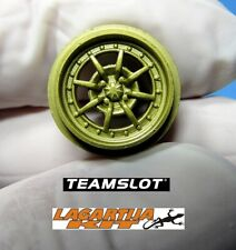 1/32 TEAM SLOT 4X LLANTAS BRAID GOLD DELANTERAS - RESIN KIT CAR PATROL RAID
