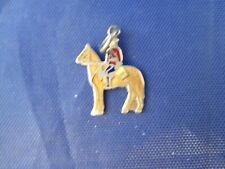 VINTAGE STERLING SILVER ENAMEL MOUNTED ROYAL CANADIAN POLICE CHARM