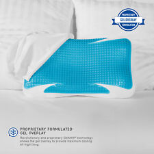 Bed Wedge Pillow Memory Foam 10 Inch Folding Acid Reflux Back Neck Pain Compact