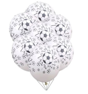 """10 Pack Soccer Ball 12"""" Themed Decoration Party Balloons Football World Cup FIFA"""