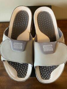 Air Jordan XI 11 Hydro Retro Cool Grey White Slide Sandal Size 11 With Box!!!