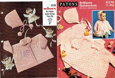 TWO x BABY GIRLS' KNITTING PATTERNS, DRESS, JACKETS, HATS