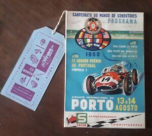 Formula 1 Porto Portugal 1960 Program catalogue very rare automobilia
