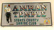 Amran Temple Stokes County Shrine Club License Plate