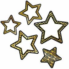 Colorful Cutout Blk Gld Stars Asst Designs Carson Dellosa Cd-120241