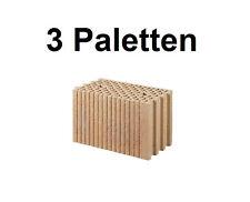 3 Pal. Planziegel POROTON-T (24 cm) 12/0,9 Ziegelstein Planstein Mauerwerk