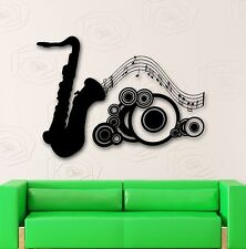Wall Stickers Vinyl Decal Music Saxophone Musical Instrument (ig1749)