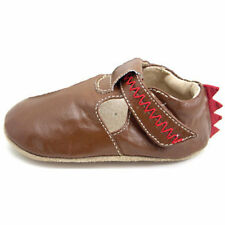 LIVIE & LUCA Shoes Sandals Baby Dino Stego Toffee Brown Red Spikes 0-6m UNISEX