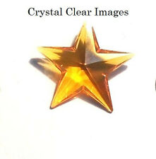 Retired-28mm Swarovski Strass Topaz Crystal Star Prism 8815-28 Wholesale Cci