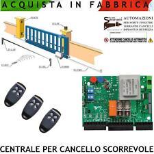 Cancello Scorrevole Centrale per Motori 220 V. 550 W Came Fadini 3 Radiocomandi