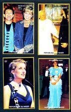 OFFERTA COLLEZIONE NIGER 4 FOGLIETTI LADY DIANA FRANCOBOLLI Stamps - Timbres -