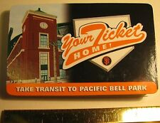 SF GIANTS 2000 PACIFIC BELL PARK DOUBLY FOLDED TRANSIT SHEET CARD FREE SHIPPING
