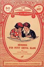 """LES LIVRES ROSES POUR LA JEUNESSE """" MEMOIRES D' UN PETIT CHEVAL """" BROCHURE 1934"""