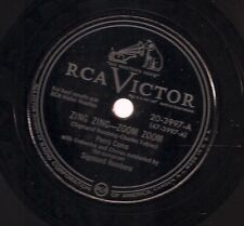 Perry Como on 78 rpm RCA Victor 20-3997: Zing Zing Zoom Zoom/If
