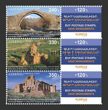 Armenia MNH** 2020 Historical Cultural Monuments Bridge Monastery Mi 1165-67