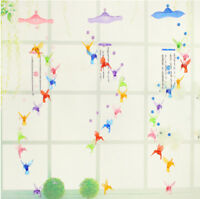 Colorful Hummingbird Dolphin Wind Chime Bells House Window Hanging Decor Prop PS
