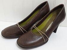 LISA NADING Brown Dress Shoes Ladies 'Lars' Chestnut Leather Pumps Sz 36.5 6 US