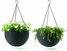 Brand New Keter 237997 Hanging Planter Set, Color Graphite Grey (Two Planters)