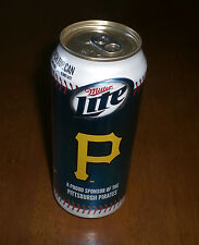 2014 PITTSBURGH PIRATES MILLER LITE BEER CAN 16 OZ - BO - NEW