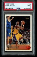 1996-97 Topps Kobe Bryant Rookie PSA 9 Mint #138 LA Lakers RC HOF