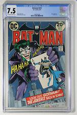Batman #251 CGC 7.5 D.C. 1973 Joker Appearance, Classic Cover