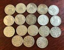 More details for 18 x king george v silver sixpence 6d coins between 1920 & 1936