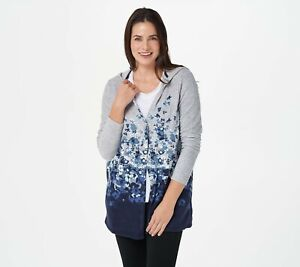 Cuddl Duds Fleecewear Stretch Floral Dip-Dye Hooded Wrap - More Colors a381710
