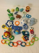 Lot of 17 Baby Toys Rattles Teethers Developmental Play Links Bath Stroller Toy