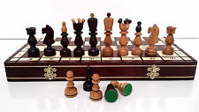 """QUALITY """"PRESIDENT"""" WOODEN CHESS SET 45x45! HAND CRAFTED CHESSBOARD & PIECES!!!"""