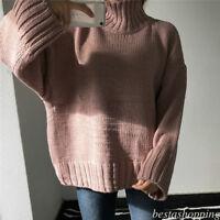 Women Korean Wool Sweater Loose Winter Turtleneck Thermal Pullover Tops