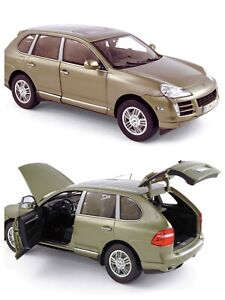 1/18 NOREV Porsche Cayenne S Olive Green Metallic 2006 New Free Shipping Home