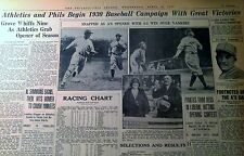 APR 16, 1930 NEWSPAPER PAGE #J5951- BABE RUTH WATCHES HIS TOWERING HOME RUN