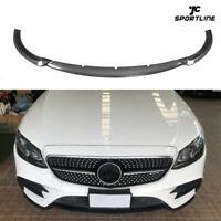 Carbon Fiber Front Bumper Lip Splitters For Benz E-Class W213 E200 E43 AMG 17-18
